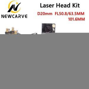 CO2-Laser Head Set + Reflektierende Mo Si Spiegel 25mm + Co2 Fokus-Linse 20mm für die Lasergravur Schneidemaschine Newcarve
