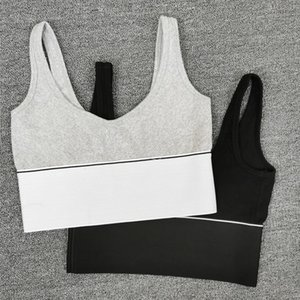 AAW001 2020 Spring Summer Sports Short Slim Knit Sexy Bottom Strap Vest Letter Top + skirt for Women A2