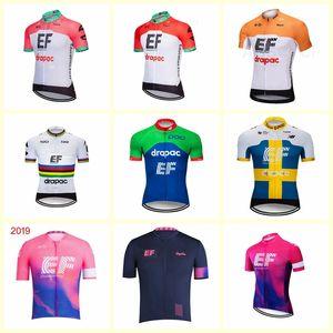 EF Education First equipe de ciclismo manga curta jersey MTB Ropa Ciclismo mens verão ciclismo respirável Maillot desgaste 612-6