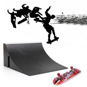 1Set Plastic Bracket Scooter Other Toys Skate Park Fingerboard Board Ultimate Parks Children Fingertip Dance Floor Mini Skateboard fun Toys