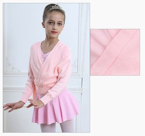 Kids Girl Clásico de manga larga de punto Wrap Sweater Ballet Dance Cardigan