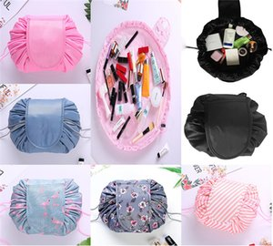 15 diseños de maquillaje cosmético Lazy Bolsa Bolsas unisex del bolso de lazo sundres viaje organizador del almacenaje de la bolsa mágica portátiles Neceser Neceser