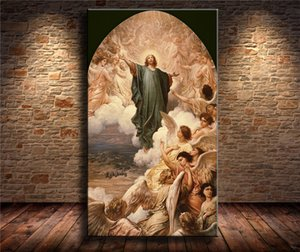 Angel of God , Canvas Pieces Home Decor HD Printed Modern Art Painting on Canvas (Unframed Framed)