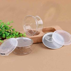 55ml 53*28mm PET Plastic Jar With Metal Lid Container Food Storage Box Food Jars Transparent Food Sealed Bottle Canisters ZZA2285