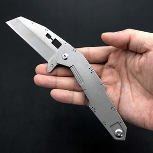 2020 haute qualité S-10 Couteau pliant pierre de lavage D2 lame en acier poignée de camping survie autodéfense expédition sans outil EDC couteau de poche