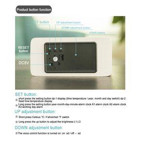 10W Hızlı Kablosuz 1 Çok fonksiyonlu Alarm Clock In Şarj 3 / Gece Işığı Cep Telefonu Tutucu Smartphone dock Şarj İstasyonu