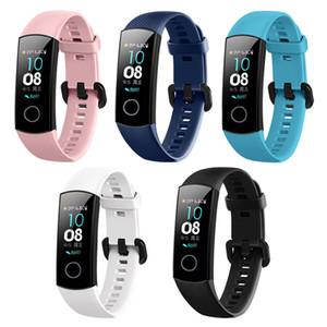 Huawei Honor Band 4 Akıllı Tracker Silikon Bileklik Spor Spor İzle 5 Bilezik Watchband Kemer Aksesuarları için Akıllı İzle Bilek Kayışı