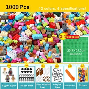 1000 450 قطعة نموذج بناء مجموعات كلاسيك كتل متوافقة الطوب DIY Legoing السائبة ألعاب تعليمية للأطفال للأطفال هدية مجانية