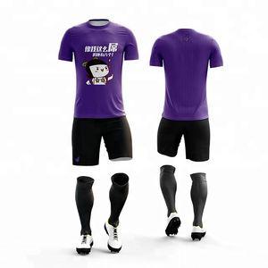 2019 nuovo design professionalizzata per la pratica squadra uniformi di calcio di sport su misura del pullover pianura scherza i corredi di calcio per Jersey