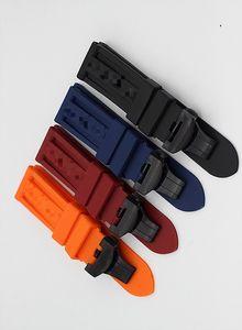 Uhren Zubehör Fashion New Fit für Panerai Premium-Gummiband, Schnalle (Dornschliesse, Faltschliesse) 22 / 24mm