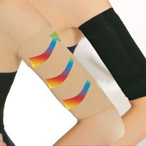 2 Par de compresión talladora del brazo tonificación Burn Otros Accesorios de Moda de manga corta de la celulitis que adelgaza armas mangas quema de grasas femenino