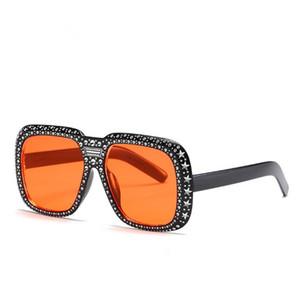European Fashion Sunglasses Women & Men Personality Sun Glasses Anti-UV Spectacles Eyewear Fake Diamond Inlay Decorative SUN Glasses A+++