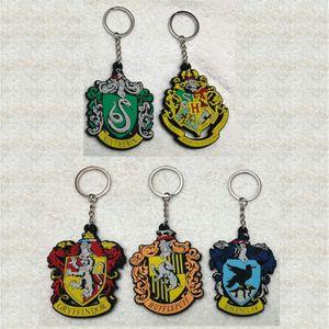 Harry Potter 5 Design Anime Keychain Harry Potter Keychain Keyring Decorative pendant Gift Children's Toys PVC Key chain