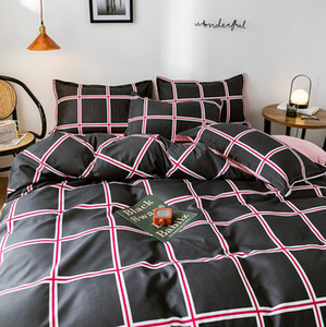The new listed explosion models factory direct sales of the new aloe cotton four-piece skin-friendly active four-piece bedding manufacturers