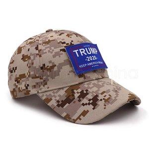 Trump 2020 Baseball Hat Creative tactique numérique Camo Keep America Great Strapback Chapeaux Snapback Sport Golf Tennis Casquettes TTA820-14