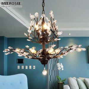 Chegada Nova Cristal Modern Chandelier Black Light Gota Pingente Light Crystal Hanging Lamp para Living room Hotel Cafe