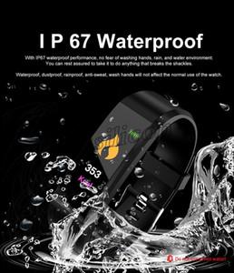ID115 115 más inteligente pulsera con la banda inteligente reloj de frecuencia cardíaca rastreador de ejercicios de la presión arterial Muñequera PK ID116 además M3 M4