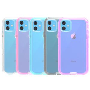 Für iPhone 11 Pro Max 3in1 Klar Defender Telefon Fall weicher TPU Shockpoof Transparent-Kästen für Iphone XS XR 6 7 8 Plus