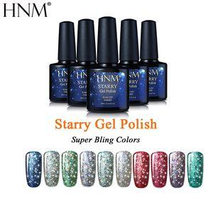 HNM 10ml Starry Bling Gel Gel Лак длинный Последний гель Польский блеск УФ-гель-лак для ногтей Польский полуподвижный лак Гибрид Gellak Gelpolish