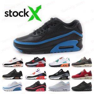 Wholesale Fashion Men Sneakers Blue Black Classic Men Women Running Shoes Game Royal Light Trainer Cushion Surface Breathable Sports Shoes