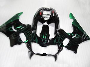 High quality plastic fairing kit for Honda CBR 900RR 1996 1997 black green flames fairings set for CBR900RR 96 97 KJ82