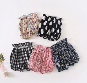 Baby Girl Shorts Одежда Летние Девушки Цветок или плед Полоты Print All-Match 100% Cotton Baby PP Короткие Многократные цвета