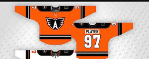 2020 Custom 97 Lehigh Valley Philadelphia Phantoms player HOCKEY JERSEY Embroidery Stitched Customize any number and name Jerseys