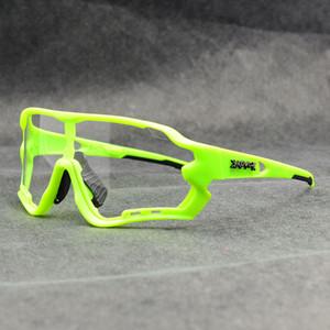 Marke Photochromic Outdoor-Sport-Sonnenbrille MTB Fahrrad Mountainbike Reiten Radfahren Gläser Eyewear Gafas Ciclismo 1 Lens Hotclipper