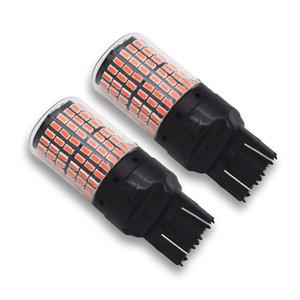 2pcs T20 7443 3014 144SMD Red LED Canbus Car Brake Stop Light Taillight Flashing Strobe Alert Safety