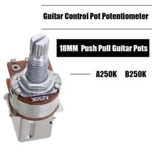 Grosso 100pcs A250K B250K Push Pull guitarra Pot controle do potenciômetro guitarra Parts Acessórios