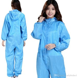 dhl 24 hours ship Protective Clothing Conjoined Antistatic Dust Clothes Hooded Cap Protection Suit For Workshop Men And Women FY4003