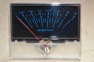 Preamplificador P-97 VU Preamplificador de nivel de base de datos Preamplificador de audio con luz de fondo