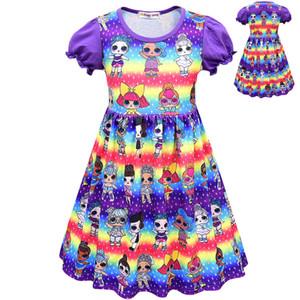T shirt Short Skirt Set New Cartoon Girls Short sleeve Stage Suit Party Dress Summer Children's Wear Kids Outwear Top Girl's Clothing 8745