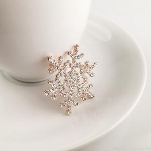 Grande spilla fiocco di neve di cristallo scintillante Strass perni del Brooch fiore per le donne Lady monili del partito Spille regalo di Natale DHL
