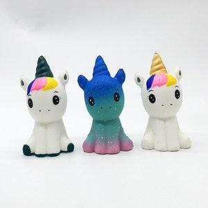 Nueva blando 12cm juguete de la PU lento rebote Unicorn lento aumento suaves Squeeze teléfono celular lindo de la correa de los niños juguetes de regalo