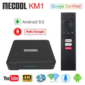 Mecool KM1 Android9.0 Google Certified Android 9.0 TV Box 4GB 64GB Amlogic S905X3 Voice Input Control Youtube 4K Set Top Box 4G 32G
