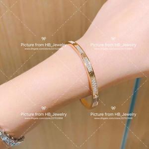 Tornillos de oro de diamante completo Destornillador pulseras Brazaletes Bangle Pulsera para mujeres fiesta de boda joyería con caja
