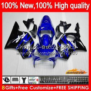 Carrosserie pour HONDA CBR954RR CBR900RR bleu noir nouveau CBR900 RR 02 CBR954 2003 77HC.6 CBR 900cc 954 900 CC RR CBR 900RR 954RR 2002 03 Carénage