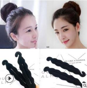 Fabrika Satış Sünger Çift Kanca Saç Bun Maker Siyah Sihirli Tomurcuk Gibi Saç Şekillendirici Çörek Saç Aksesuarları Araçları HA047