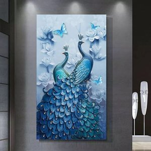 DIY Diamond Painting، Special Daimond accessories، Diamond Diamond، Animal، Peacock، Full، Rhinestone، 5D Diamond Mosaic، ديكور