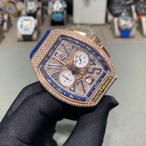 meilleure version MEN'S COLLECTION V CC 45 DT YACHT Dial Diamond à cinq broches quartz Chronographe Mens Watch or rose diamant Montres Designer de luxe