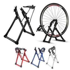 Rueda de bicicleta truing base para el hogar de centrado mecánico base de mantenimiento Inicio Soporte Holder reparación de bicicletas herramienta de 4 colores