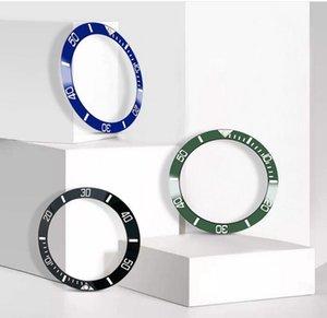 Черный Синий Зеленый Золотой керамический ободок вставки часы аксессуары Fit размер 40 мм Автоматическая суб Часы Розничная и оптовая поддержка