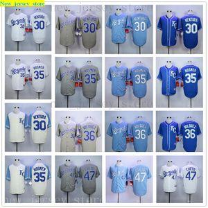 Mens Women Youth Royals 30 Yordano Ventura Jersey Kids 35 Eric Hosmer 36 Edinson Volquez 47 Johnny Cueto Baseball Jerseys blue gray white