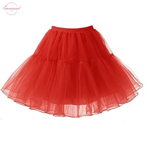 Fast Shipping Summer Yellow Red Women Ballet Tulle Mesh Mini Skirts Rockabilly Party Club Cosplay Underskirt Crinoline Petticoats