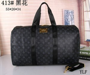 55CM large capacity women travel bags famous classical designer 2018 sale high quality men shoulder duffel bags carry on luggage keepall