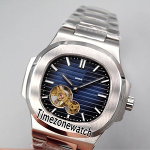Nueva caja de acero Nautilus 5712 D-Blue, textura Tourbillon, reloj automático para hombre Relojes de acero inoxidable Relojes de alta calidad baratos para el tiempo E20f6