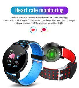Smart Watch 119 Plus Heart Rate Monitor Smart Bracelet Men Sport Wristband Women Touch Screen IP67 Waterproof For Android IOS