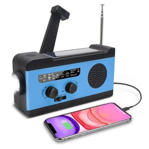 Manual Hand Crank Generator Radio SOS Lighting Solar Energy Wind-up Radio USB Emergency Phone Charger car