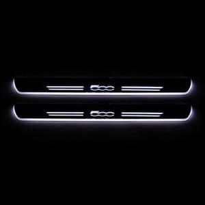 Umzug für Fiat 500 500C 500X 500L Acryl LED Willkommen Pedal-Auto-Verschleiss-Platte Pedal Tür-Schwellen-Pathway-Licht